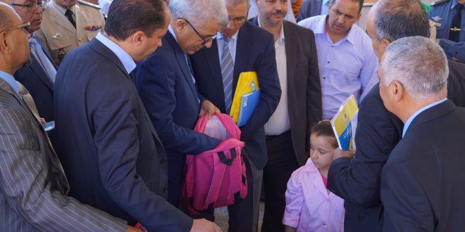 بني ملال : السيد محمد دردوري والي جهة بني ملال خنيفرة ، يعطي انطلاقة مبادرة مليون محفظة باقليم بني ملال