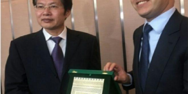 ابراهيم مجاهد في زيارة عمل الى الصين من أجل التعريف بجهة بني ملال خنيفرة ، وجلب اتفاقيات مع مستثمرين صينيين كبار