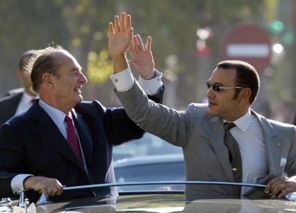 <h1>   جلالة الملك محمد السادس يعزي ابنة جاك شيراك  <h1/>