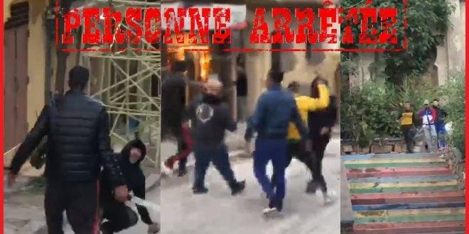 <h1>      طنجة ……. ولاية أمن طنجة تتفاعل مع مقطع فيديو منشور على صفحات التواصل الاجتماعي يظهر قيام شرطي بإشهار سلاحه الوظيفي ضد أشخاص يتبادلون العنف بالسلاح الابيض..       <h1/>